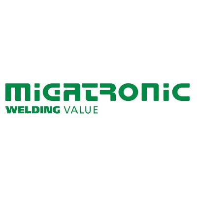 Migatronic logo, LOGIA lagerstyring kunde
